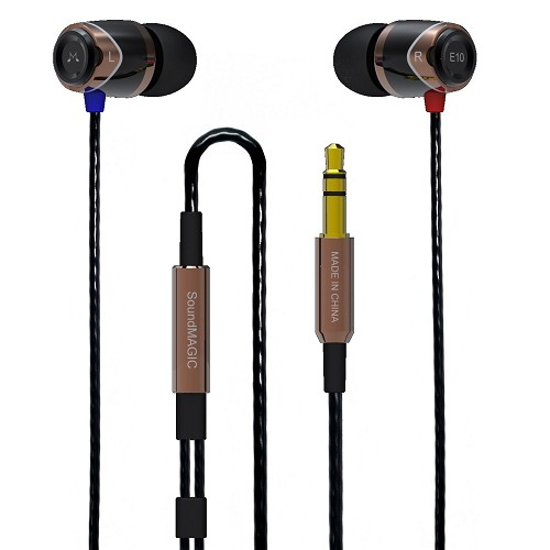 SOUNDMAGIC In Ear Monitor [E10] - Black Gold - Earphone Ear Monitor / IEM
